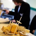 Wooden toys made by pupils